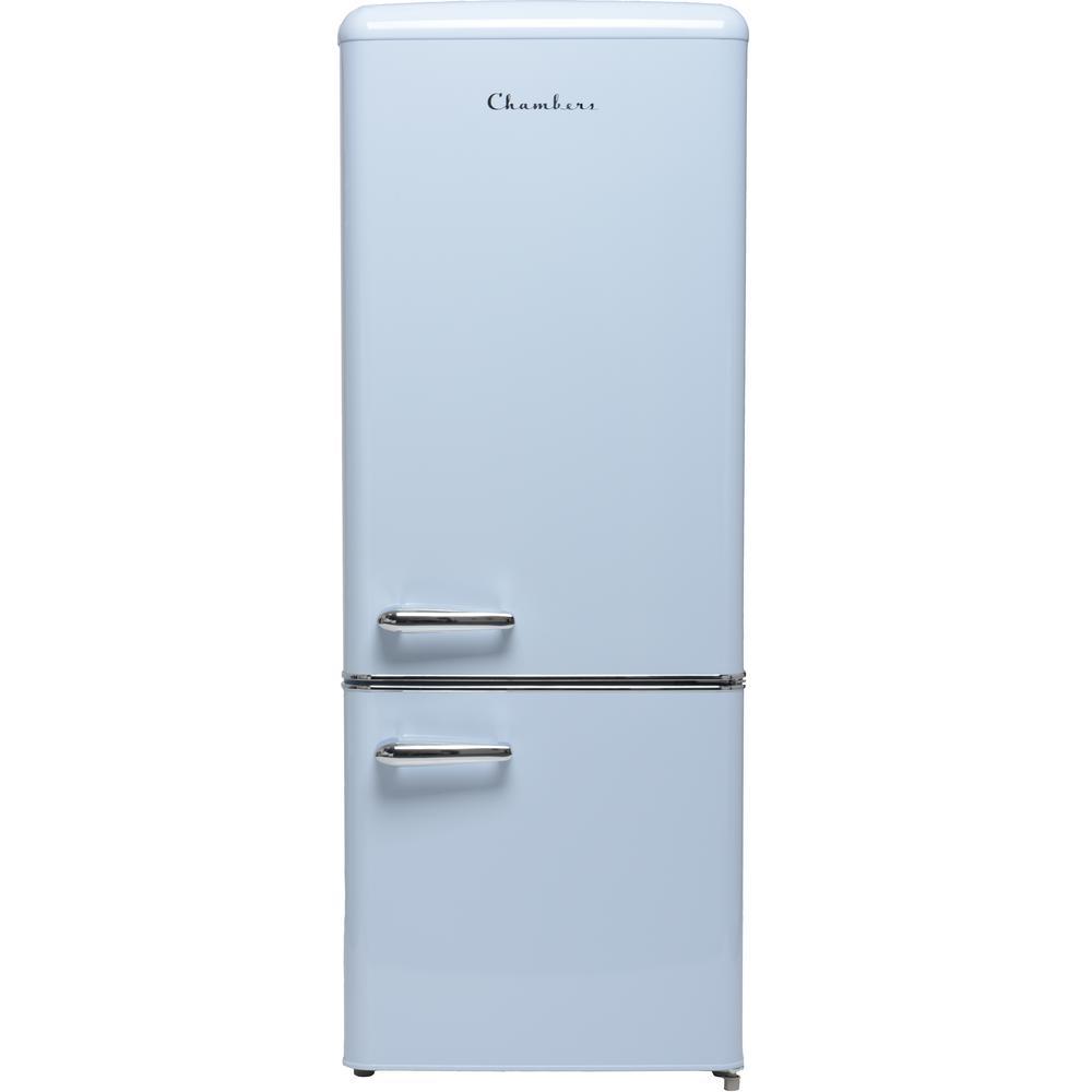 Chambers 22 In 7 Cu Ft Retro Bottom Freezer Refrigerator In Light Blue Counter Depth Mrb192 07lb In 2020 Bottom Freezer Bottom Freezer Refrigerator Refrigerator