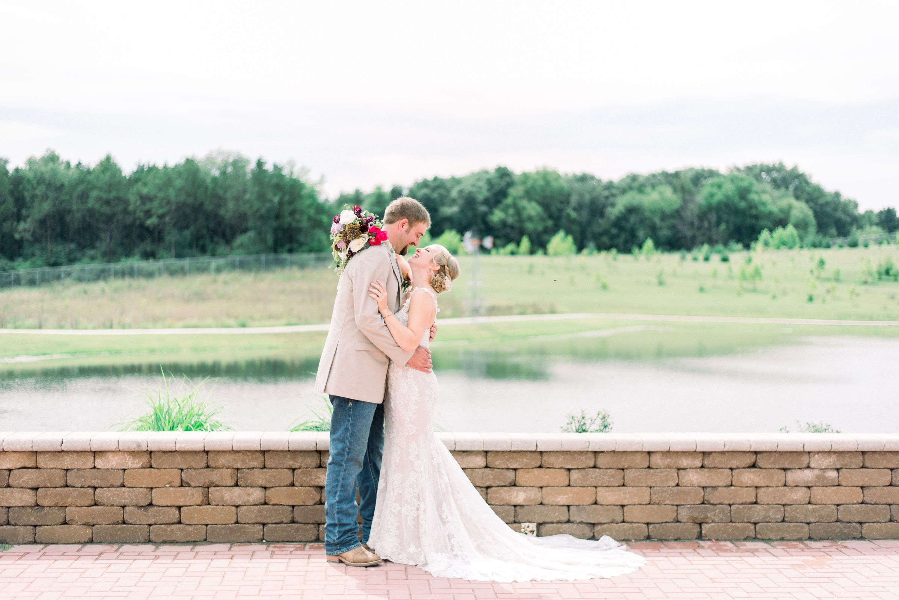 Roller wedding bride and groom pinterest white lace wedding