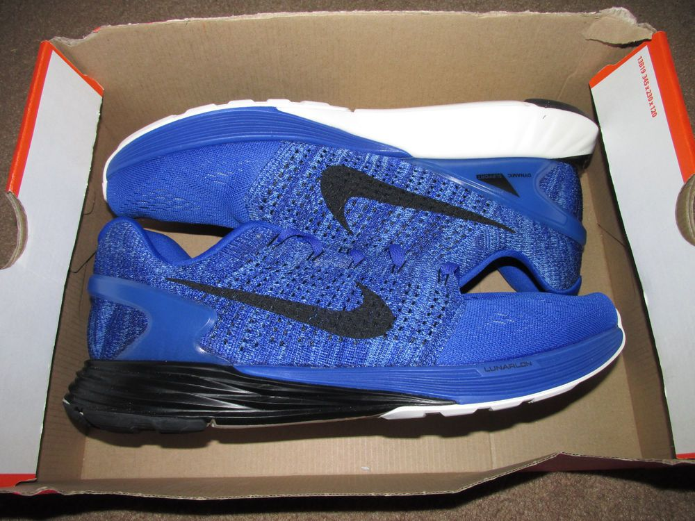 ef524150404a4 ... Nike Lunarglide 7 Mens Running Shoes 11 Racer Blue Black Sail 747355  402 Nike…
