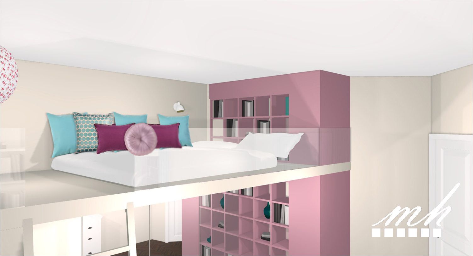 Comment decorer sa mezzanine mezzanine pinterest for Amenager une chambre en longueur