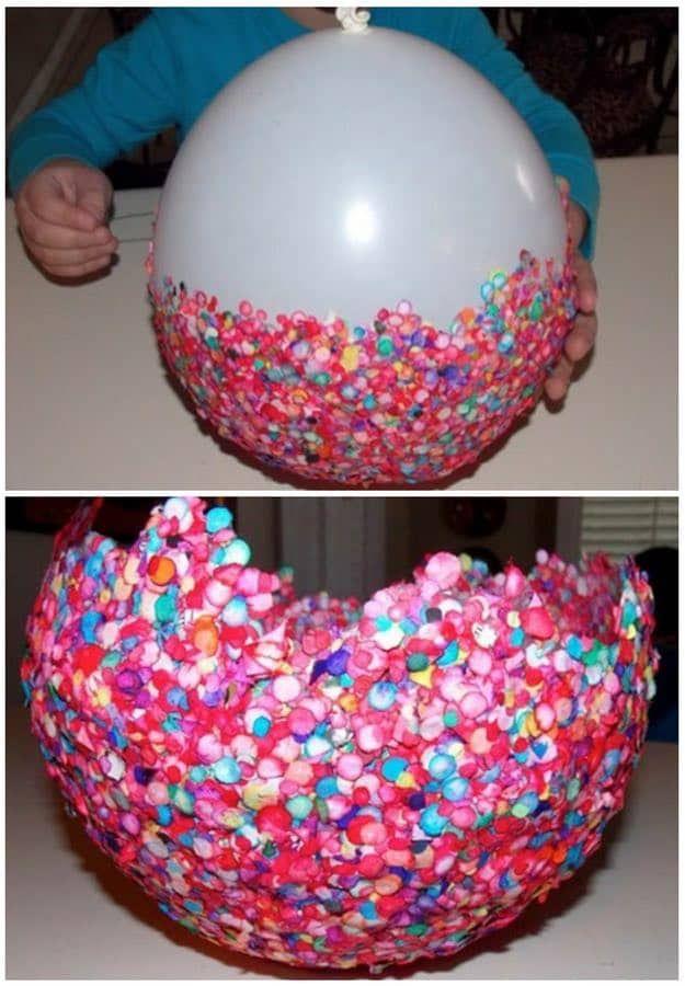 High Quality Ballon Schüssel Von Kratzer | Easy Kids Basteln Für Alle Jahreszeiten