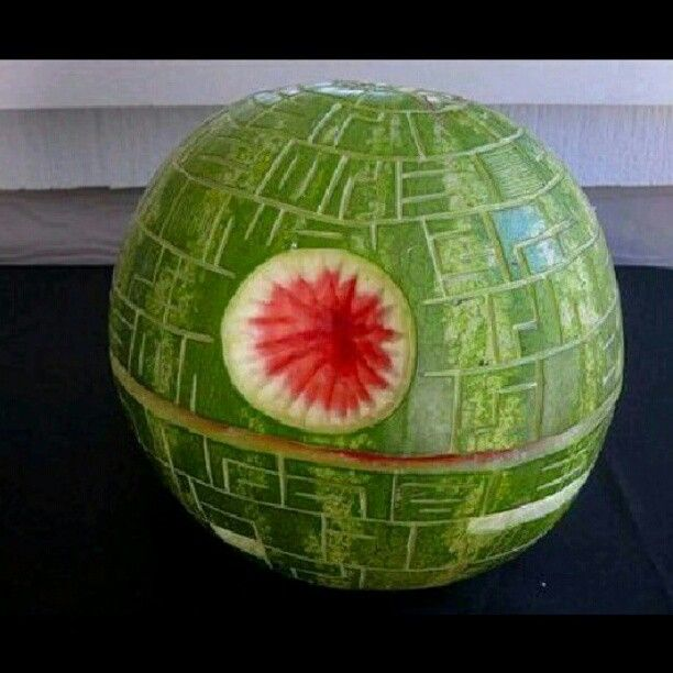 Star Wars Death Star Watermelon (via starwarsfanspage/Instagram)