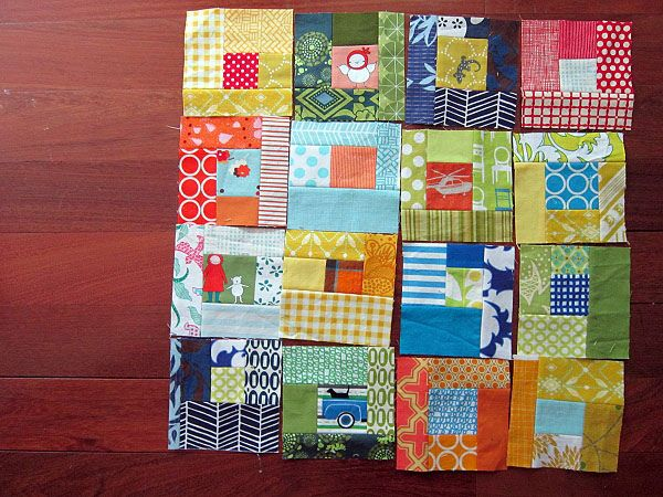 Love this baby quilt idea  by StitchedInColor, via Flickr