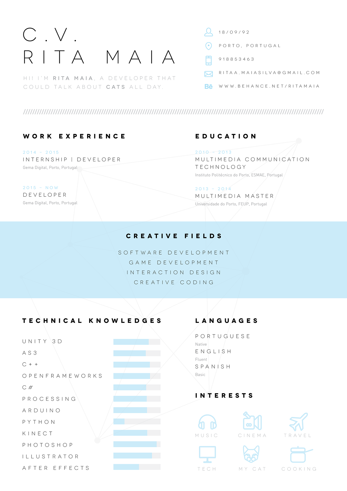 cv  resume on behance