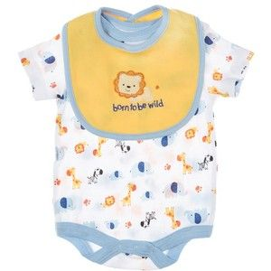 Zoo Animal Creeper W Bib 0 9mos 379164896 Newborn Boy Newborn