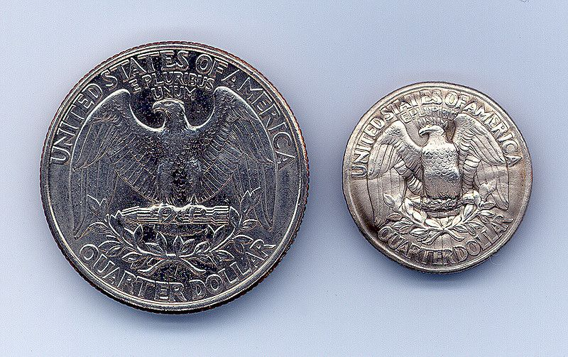 A quarter coin shrunken and compressed by a blast of electromagnetic forces.Video:  http://www.youtube.com/watch?v=gs51nH46F-g