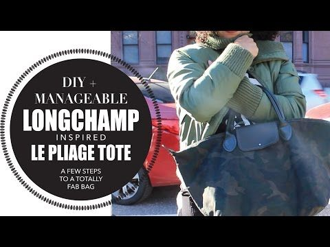 56ebea896d7b DIY LONGCHAMP LE PLIAGE TOTE BAG - YouTube
