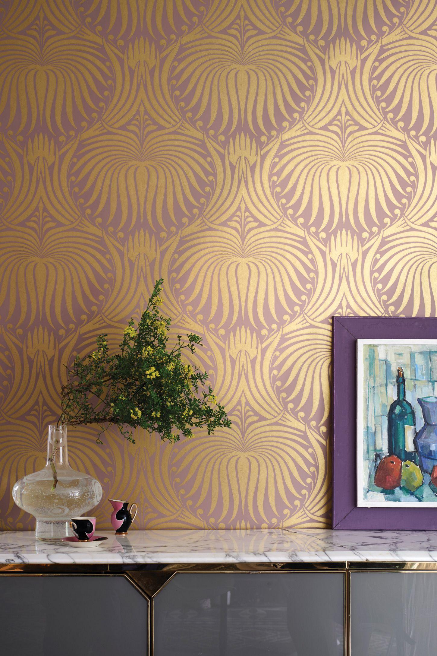 Farrow & Ball Lotus Wallpaper in 2020 Lotus wallpaper