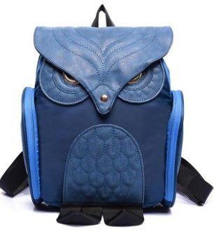 Newest X Feeling Fashion Cute Owl Backpack Women Cartoon School Bags For Teenagers Girls Nylon Women Backpack