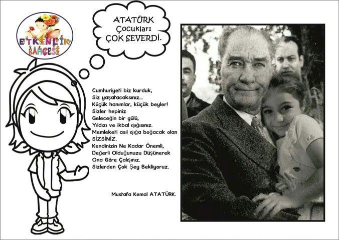 Ataturk Cocuk Sevgisi Sinif Temalari Faaliyetler Boyama Kitaplari
