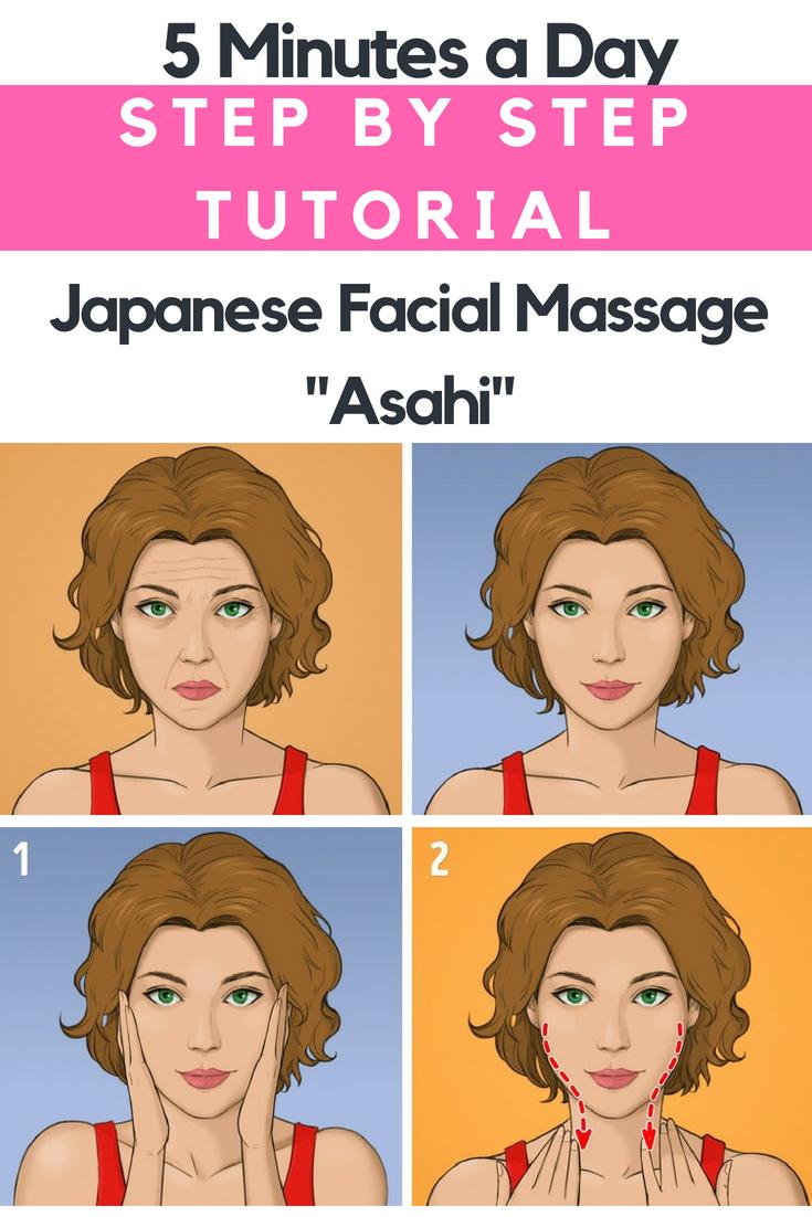 Yüz için asahi masaj