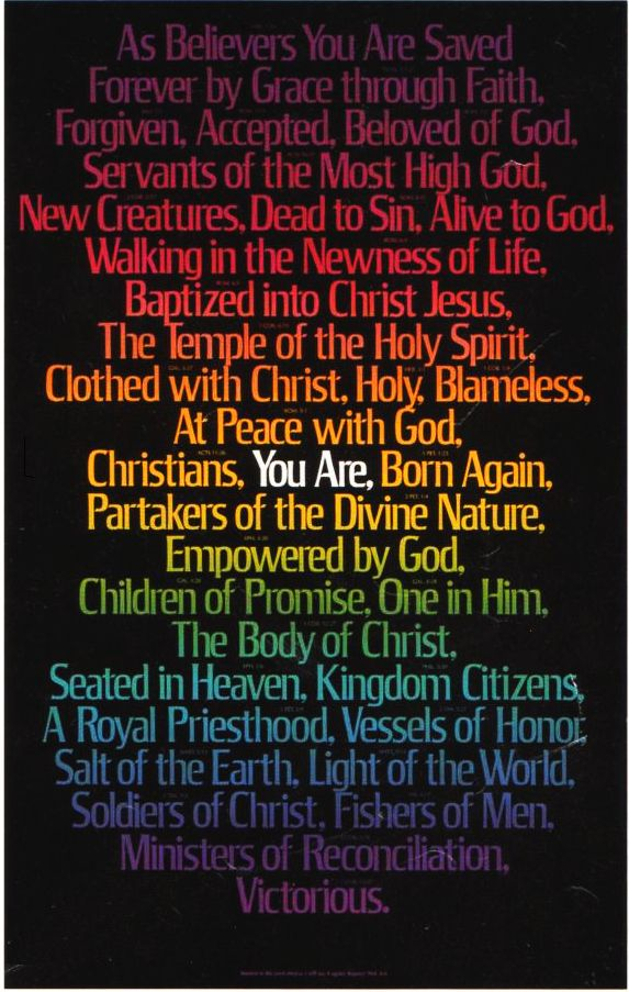 Who We Are In Christ Names Of Jesus Names Of God Spirit Of Truth