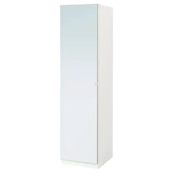 Pax Armoire Penderie Blanc Vikedal Verre Miroir 50x60x201cm Magasinez Chez Ikea Ikea In 2020 Pax Wardrobe Ikea Pax Glass Mirror