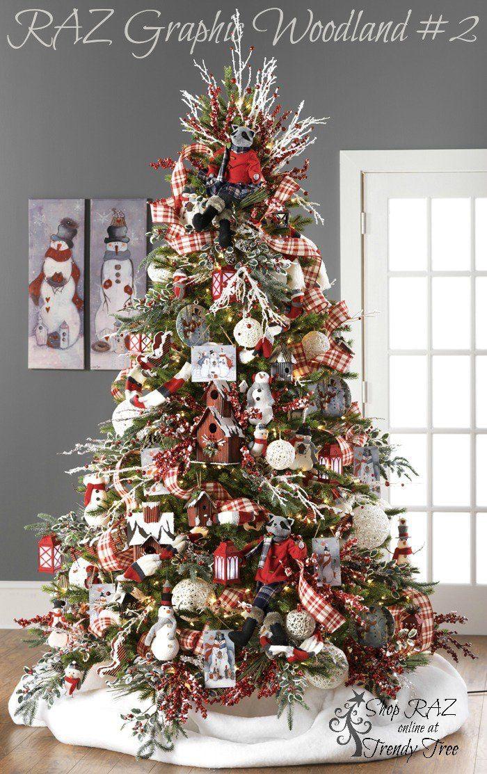 Tematica De Arbol De Navidad De Raz 2015 De Fauna Del Bosque En Invierno Decorac Decoracion De Navidad 2017 Decoracion Arbol De Navidad Arbol De Navidad 2017