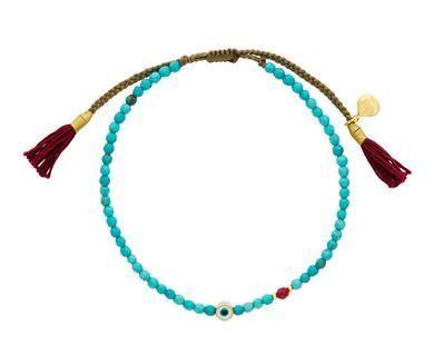 Tai - Turquoise and Evil Eye Beaded Bracelet in Under $250 Bracelets at TWISTonline