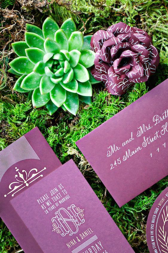 Marsala Tabletop Design with Succulents
