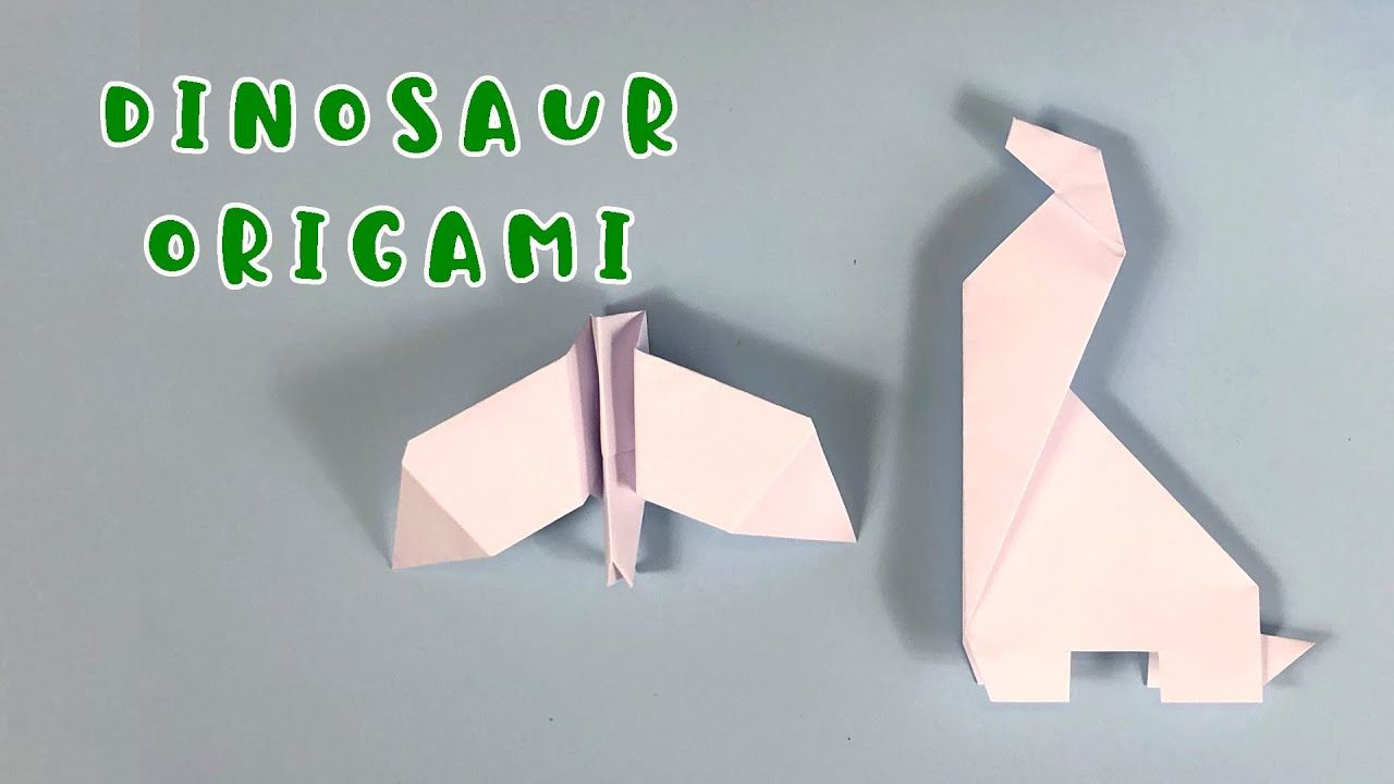 Photo of Dinosaurier Origami mit Joe und Chantelle 🎨✂️🦖🦕 La Casita de Inglés