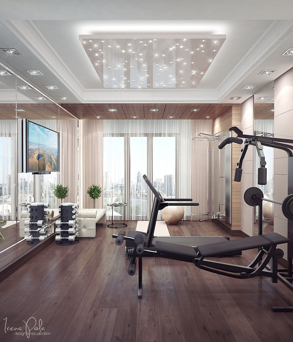 A Home Gym Ensures Residents Don T Have To Deal With The Unwashed Masses As The Local Ymca If They Have Those Gym Room At Home Home Gym Decor Home Gym