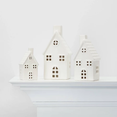Small Ceramic House Decorative Figure White Wondershop Target