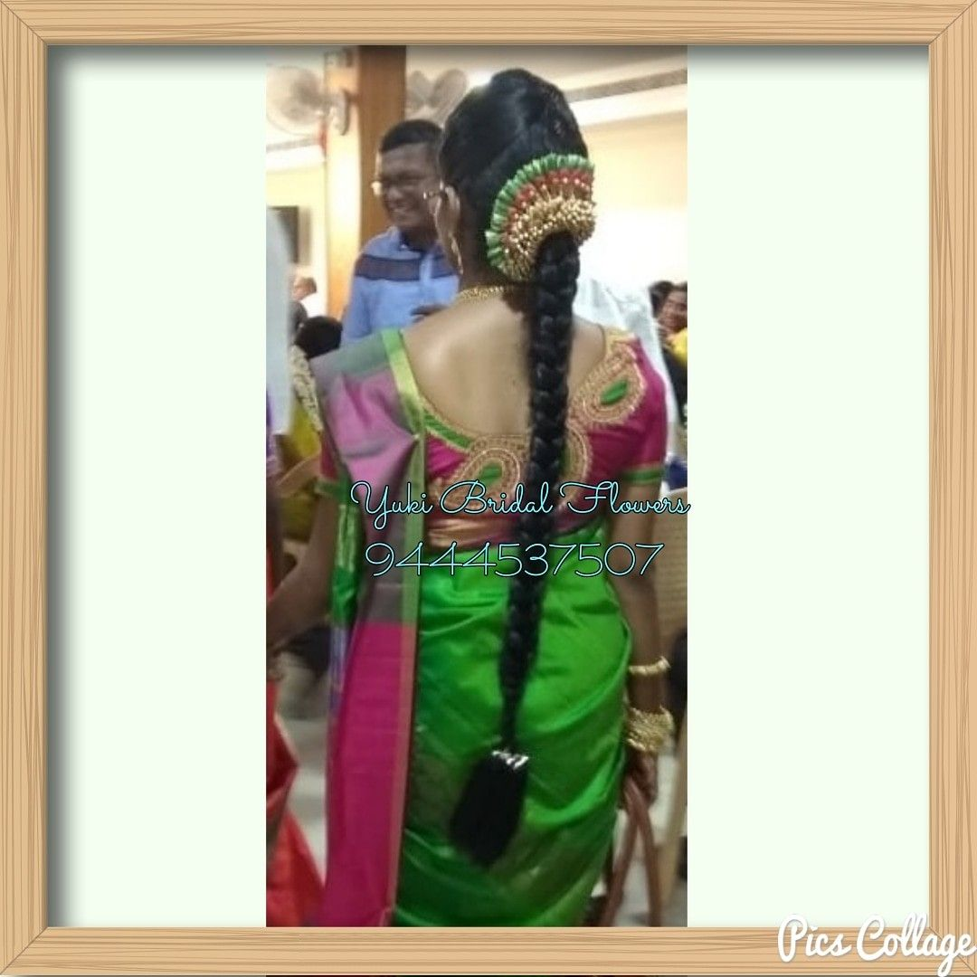 Color veni combos done for a function bright green and shocking