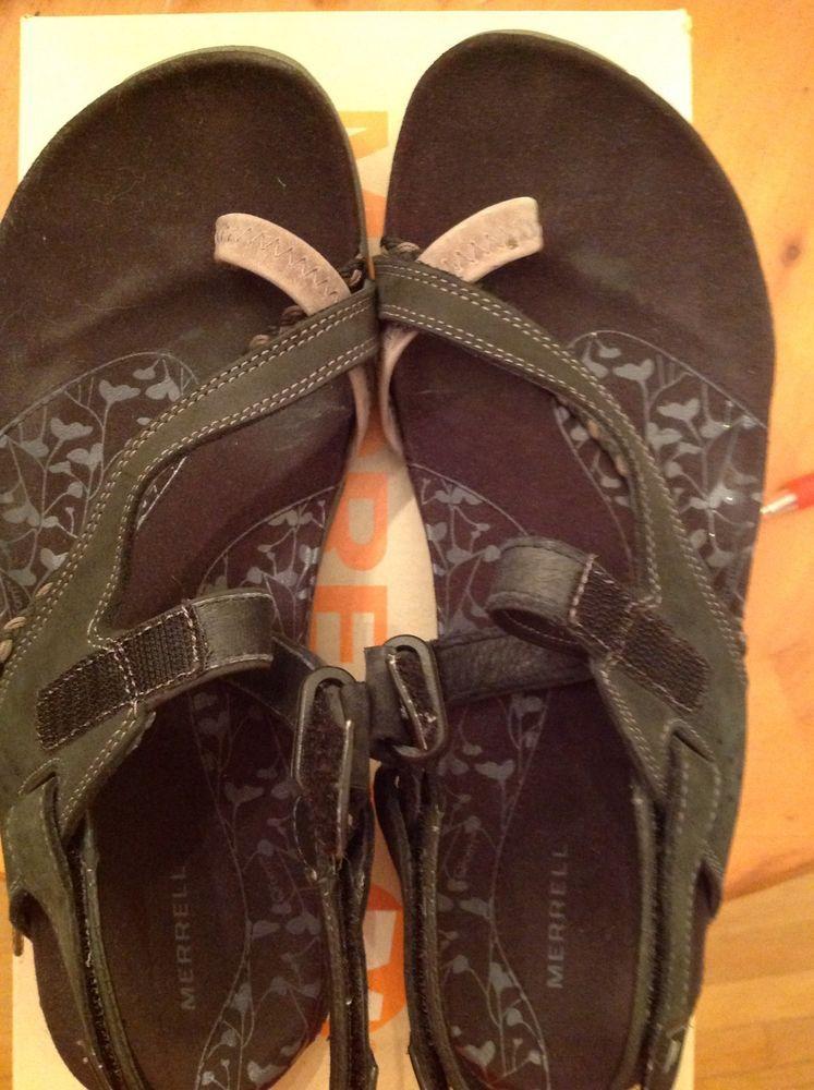 Merrell Siena Black Sport Sandals Womens Size 9 Ankle Strap