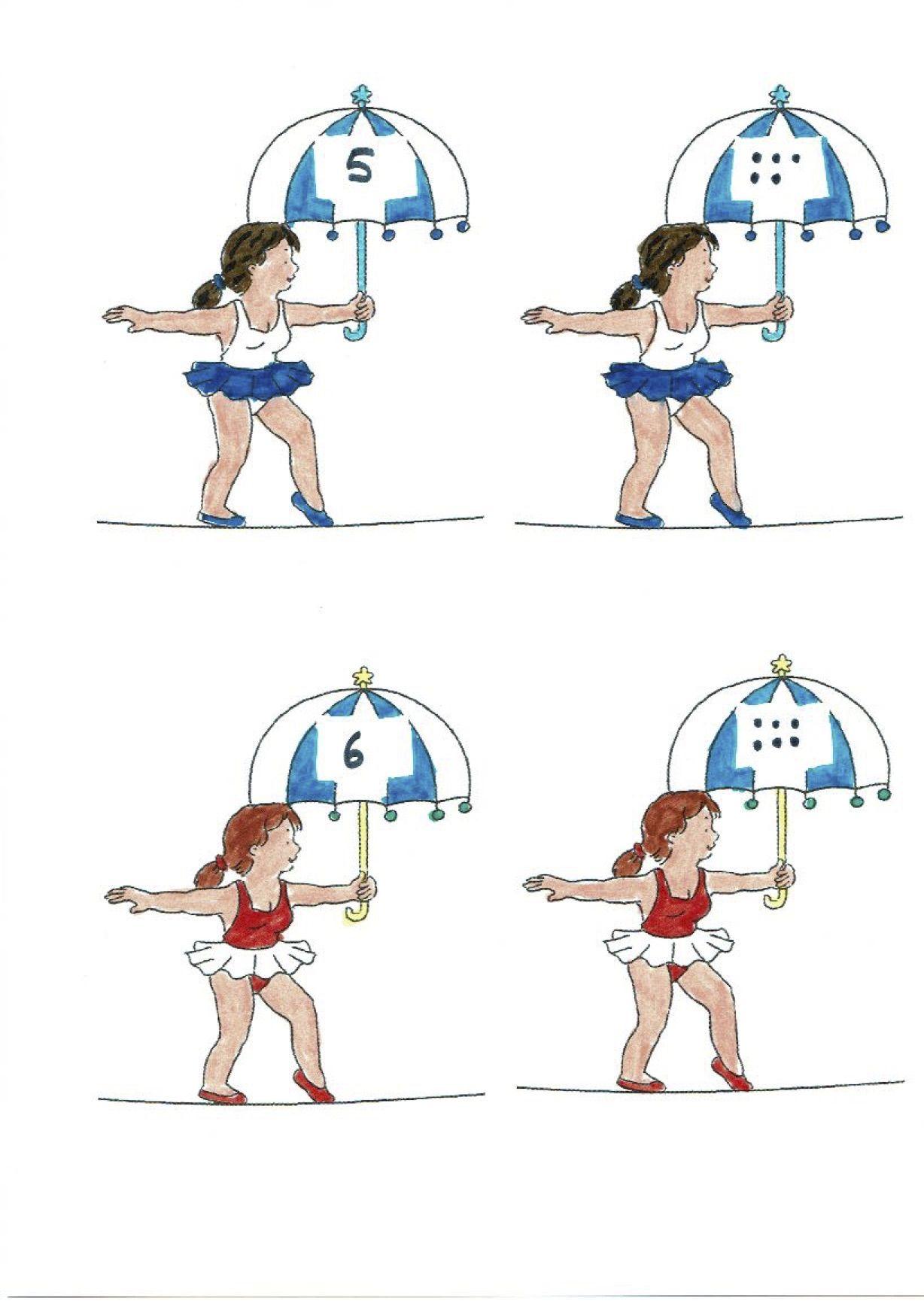 Circus Koorddanser Getalbeeld En Cijfer