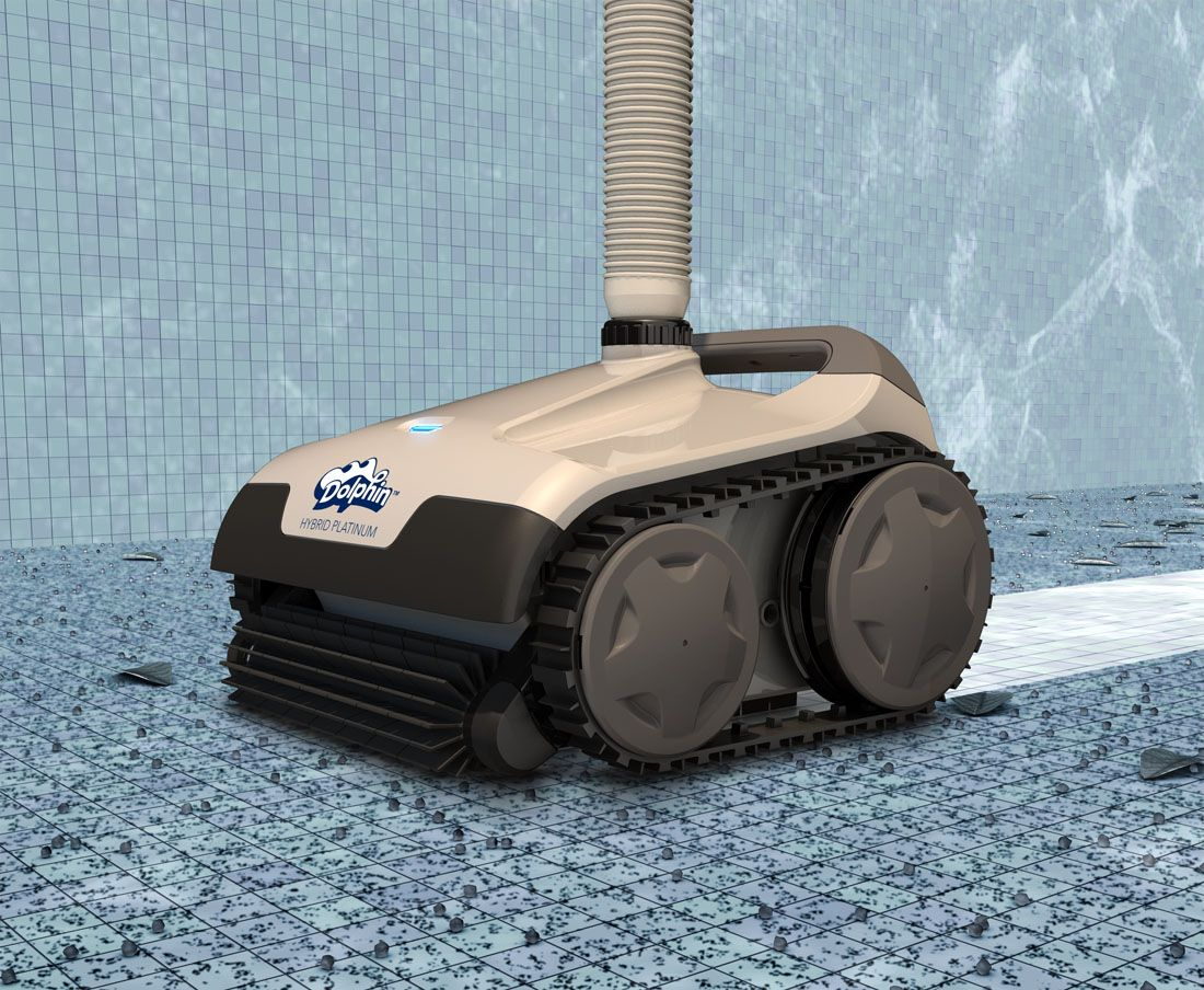 Hybrid Platinum Suction Pool Cleaner Dolphin Pool