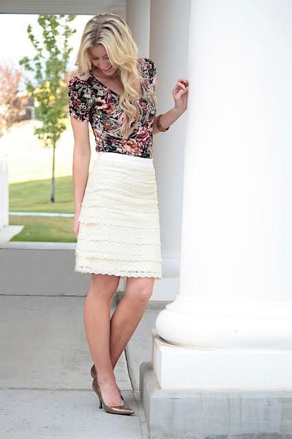 DIY Clothes Refashion: DIY Lace for Days Skirt DIY Clothes DIY Refashion