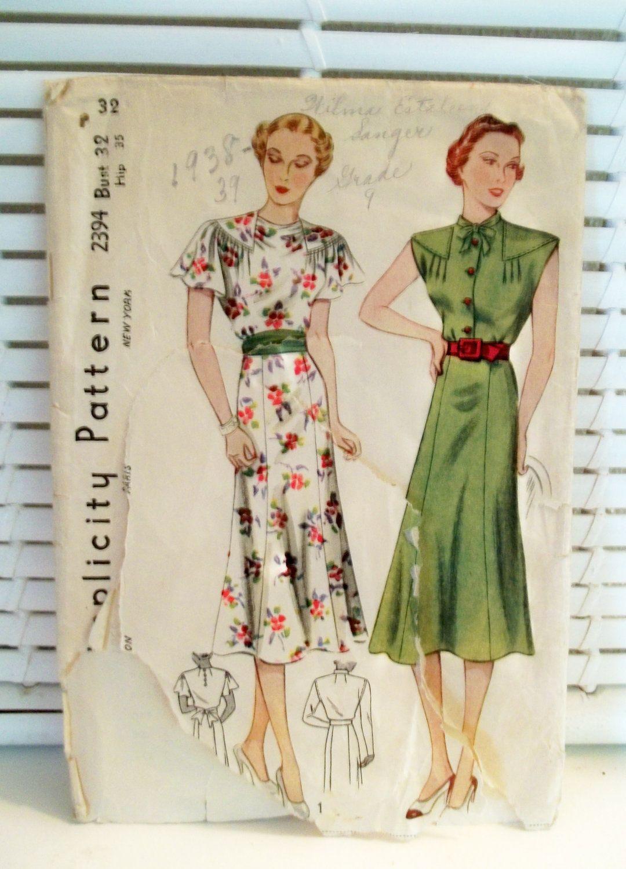 S vintage dress pattern simplicity vintage dress patterns