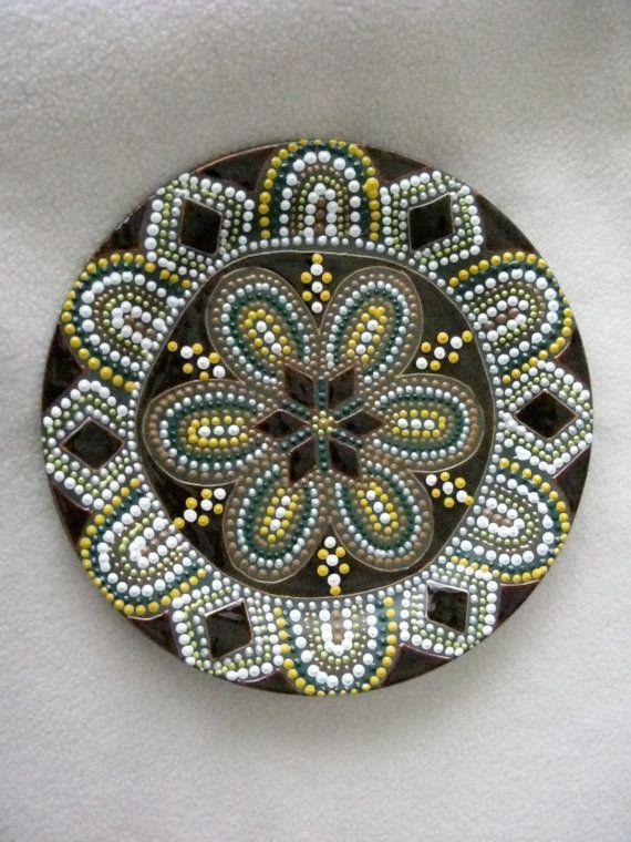 Hand painted mandala style decorative by ElenaPrikhodkoKnapp