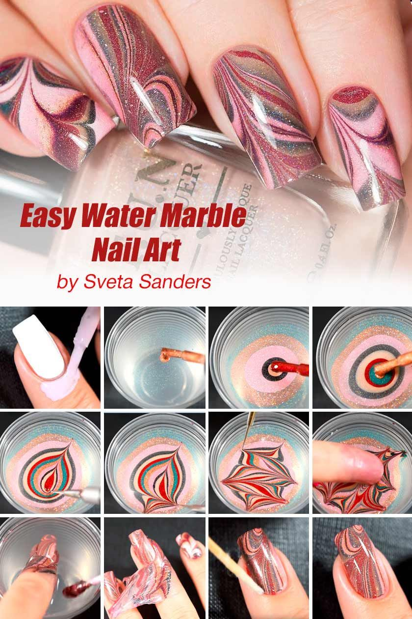 25 Beautiful And Simple Stylish Nails Designs Simple Nail Designs Marble Nails Tutorial