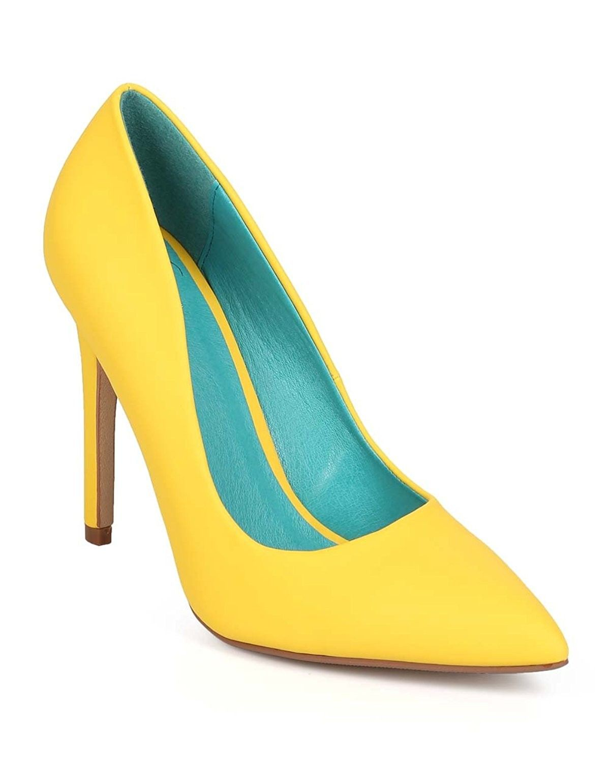 d52b5f091b4 Yellow Cindy Not Just A Pump Classic Pointy Toe Heels Women s Shoes ...