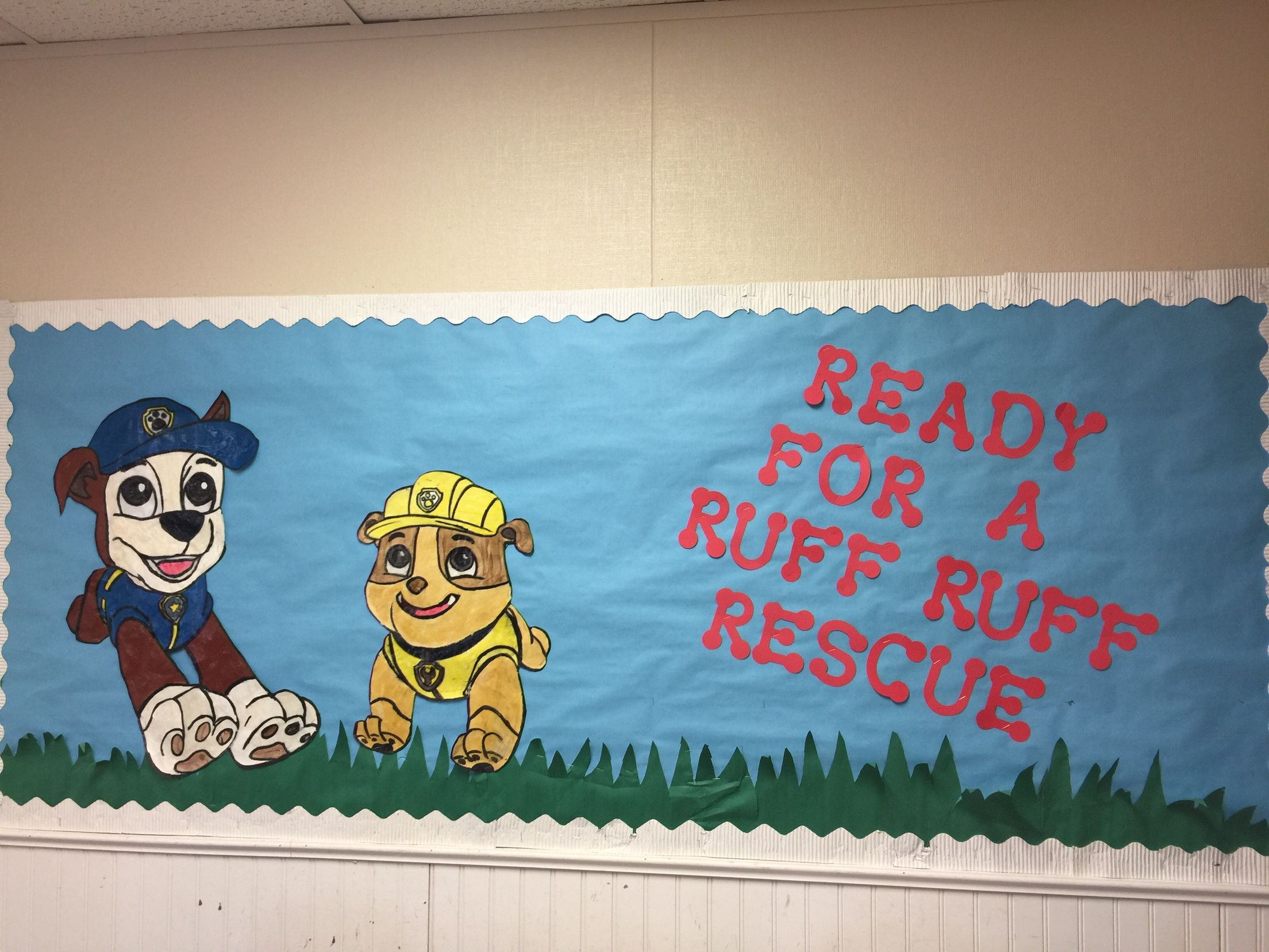 Paw Patrol Quot Ready For A Ruff Riff Rescue Quot Bulletin Board