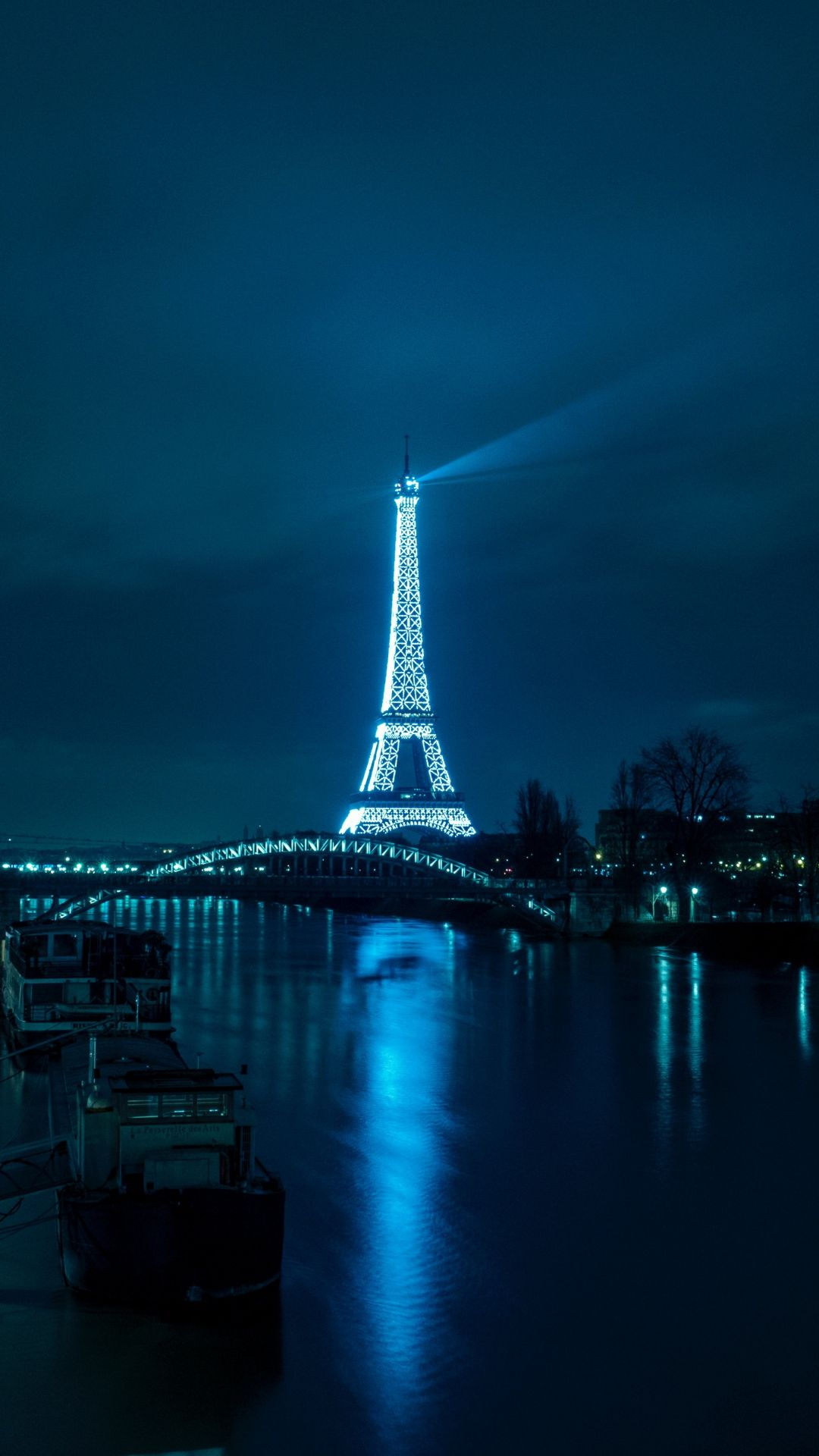 Paris Eiffel Tower Night City River Bridge Iphone 8 Wallpapers City Wallpaper Eiffel Tower Lights Eiffel Tower