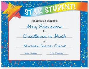 Attendance Certificates for Your Star Students | Star students ...