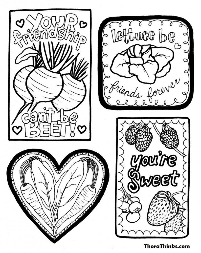 Veggie Valentine Coloring Page   World Needs Love Sweet Love ...