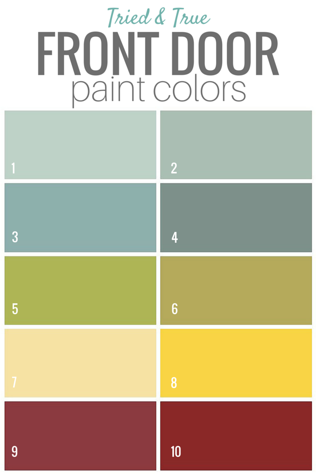 Beautiful Front Door Paint Colors Paint Chips Pinterest Door