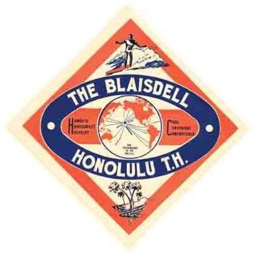 Honolulu hi blaisdell hawaii vintage looking travel decal luggage label sticker ebay