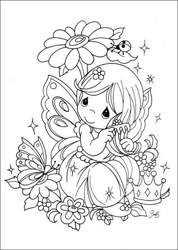 Dibujos infantiles de precious Moments para colorear  Digi Stamps