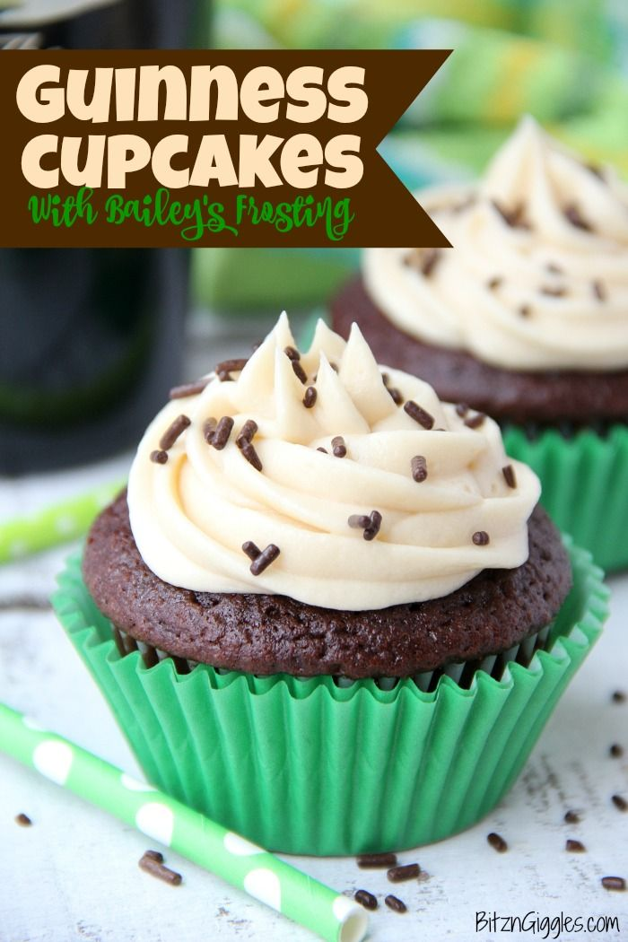 Guinness Cupcakes #creamfrosting