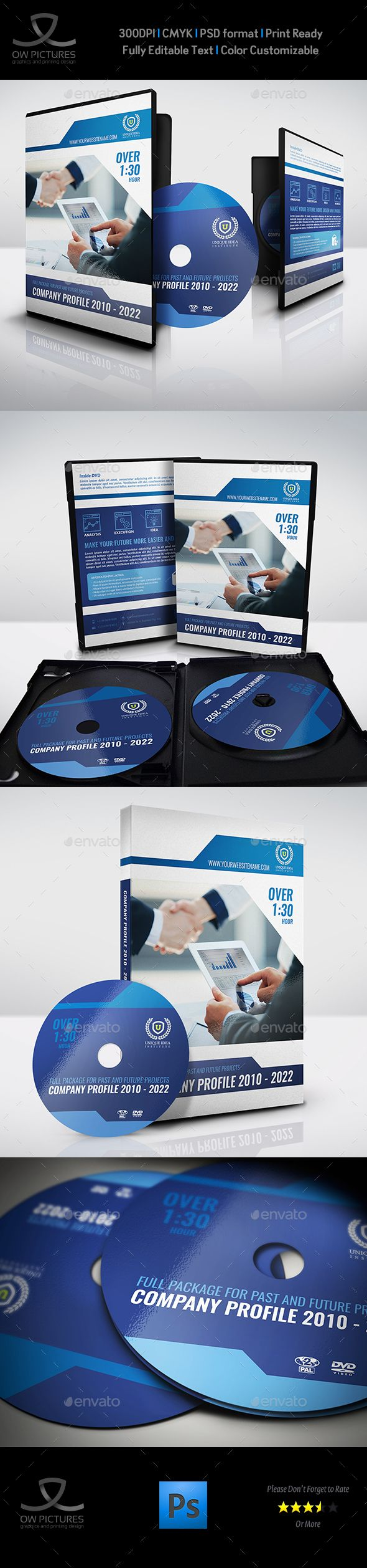 Company Profile Dvd Cover And Label Template  Label Templates