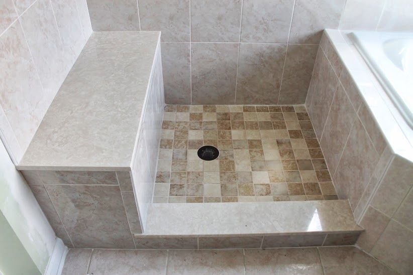 Shower pan with built in bench | Bathroom | Pinterest | Shower pan ...