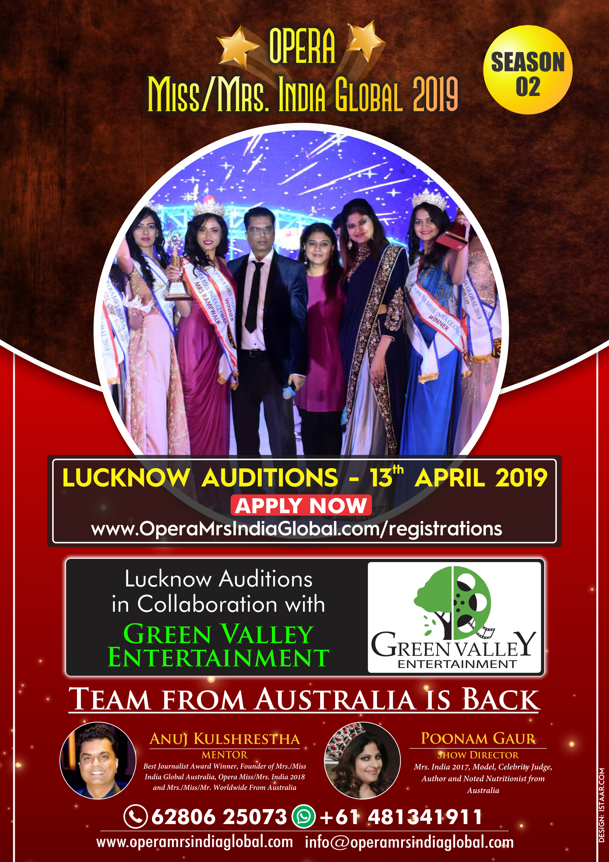 Pin by GREEN VALLEY ENTERTAINMENT on Opera Miss / Mrs India Global
