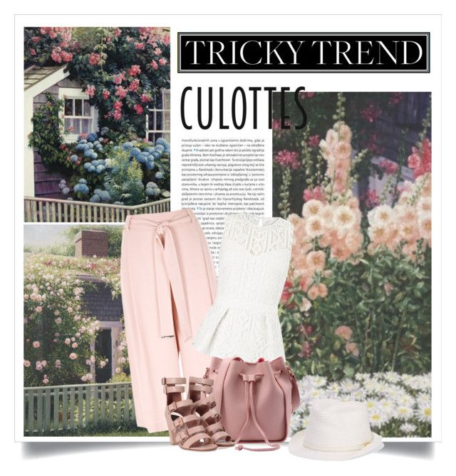 """""""Tricky trend: culottes"""" by danielle-broekhuizen ❤ liked on Polyvore featuring Oris, River Island, Lipsy, Laurence Dacade, Melissa Odabash, TrickyTrend and culottes"""