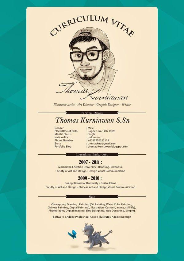 Thomas Kurniawan S Portfolio My Curriculum Vitae Cv Creative Cv Curriculum Vitae Curriculum Vitae Creative