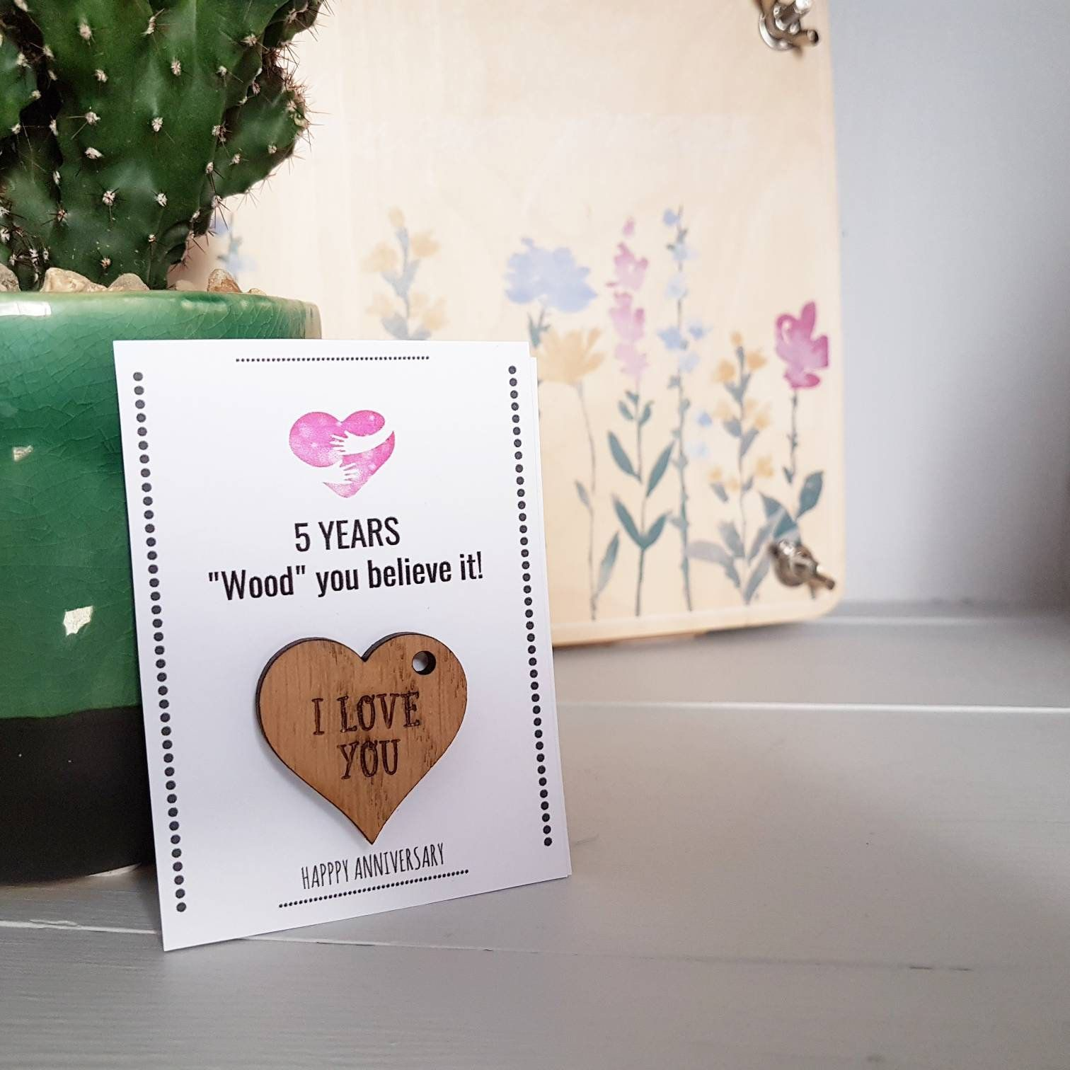 5th Anniversary Gift Husband Wife Wood Wooden Gift 5th