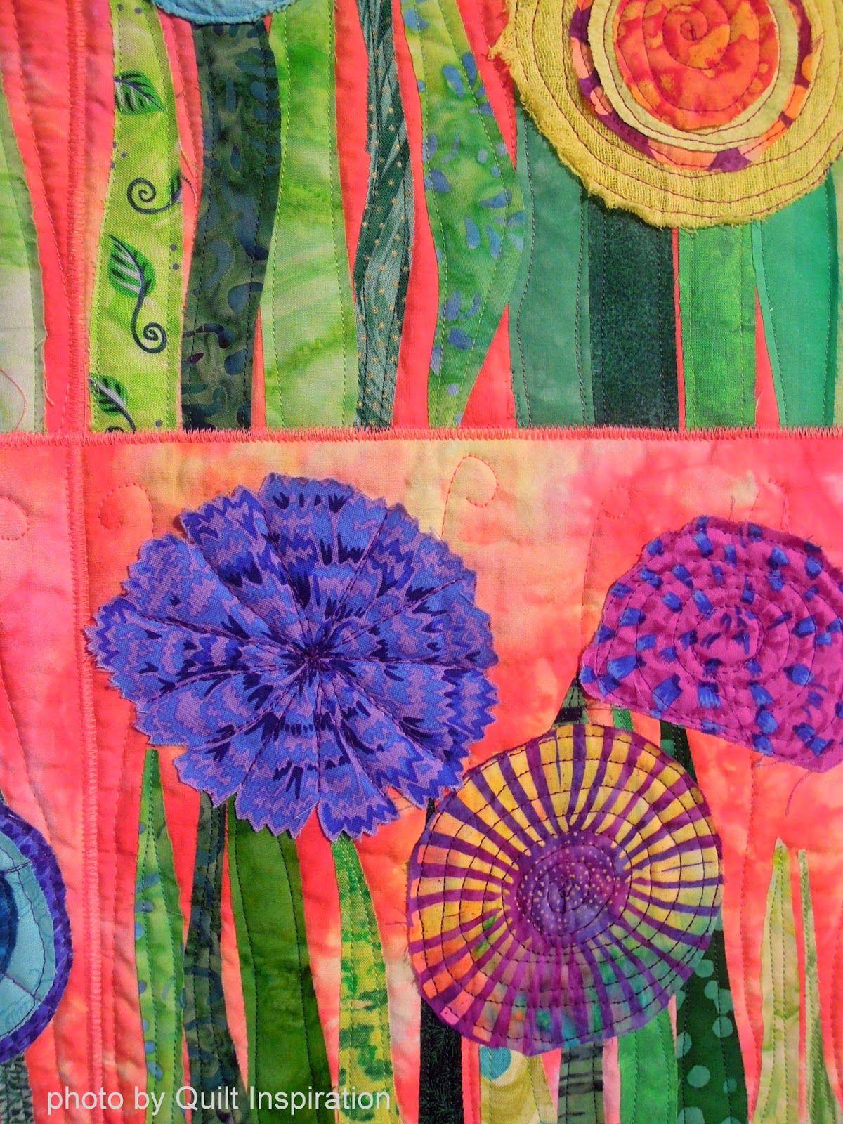 Bloooming Beauties Fun Flower Quilts Flower Quilts Landscape Art Quilts Sunflower Quilts