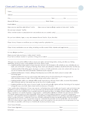 Downloadable Eyelash Extension Consent Form  Extensions Salons