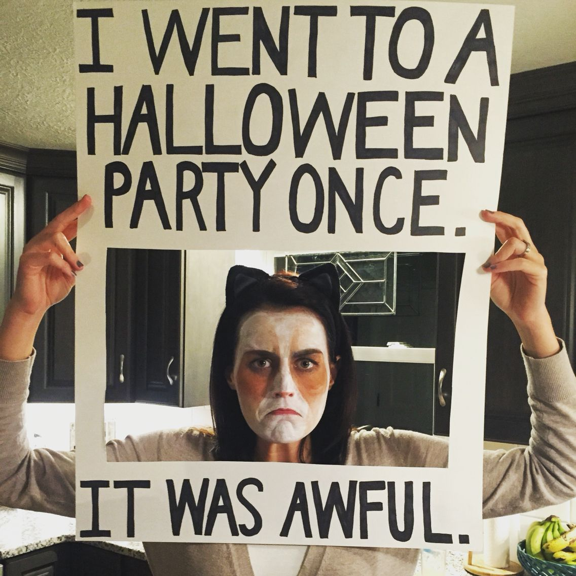 Grumpy Cat Halloween Costume. DIY. Last minute costume