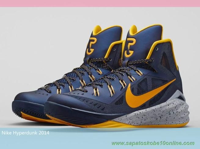 The Nike Hyperdunk 2014 'Paul George' PE will come to select Nike retailers  on November The shoes feature Pacer inspired colors.
